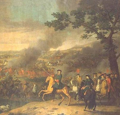 Peter the Great in paintings. Louis Caravaque. Peter I in the Battle of Poltava. 1718