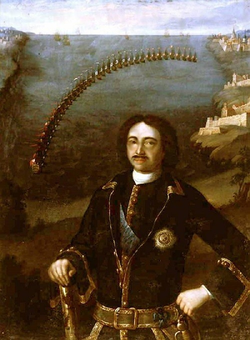 Louis Caravaque. Peter I, the commander of the four Allied Navies in 1716.