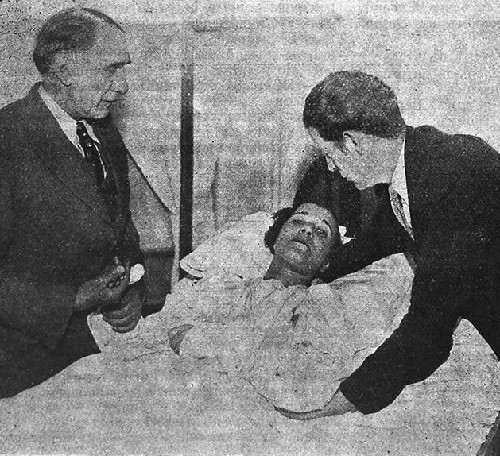 Maria Rasputin in Peru hospital, she was wounded by a bear in the circus