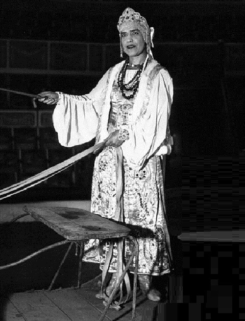 Maria Rasputina as a circus performer in 1932