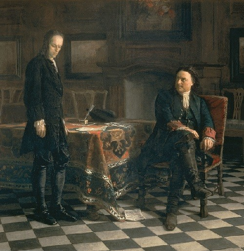 Nikolai Ge. Peter I Interrogating Tsarevich Alexei
