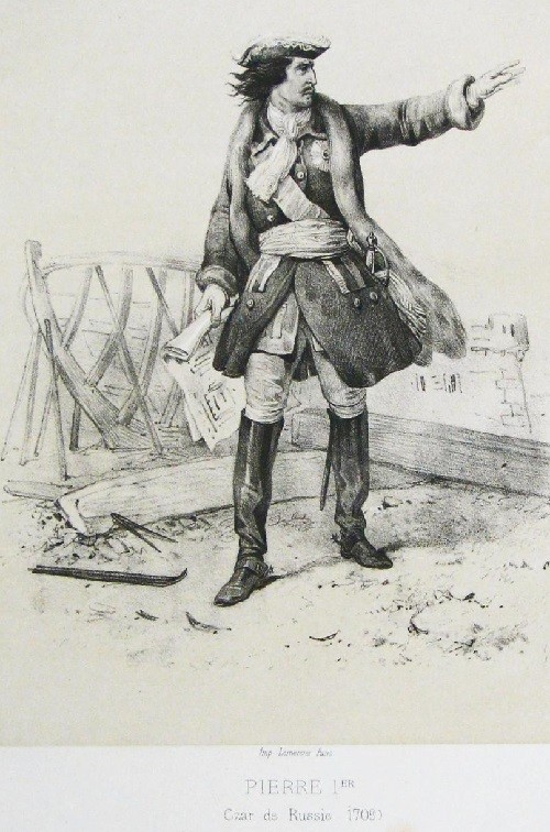 Peter I in 1709