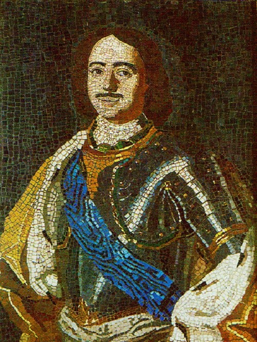 Peter I. Mosaic. Recruited by MV Lomonosov. 1754. Ust-Ruditsky factory. Hermitage