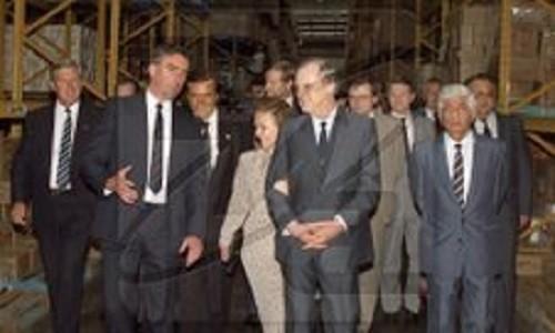 Pyotr Patrushev translates Australian Prime Minister Bob Hawke and Prime Minister Ryzhkov