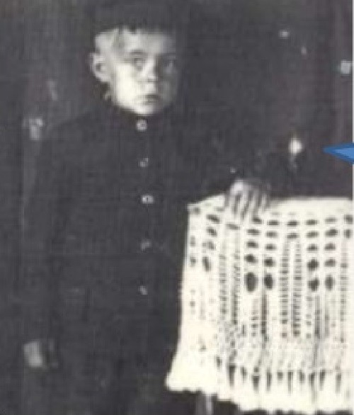 Pyotr in his childhood, living in a Siberian village