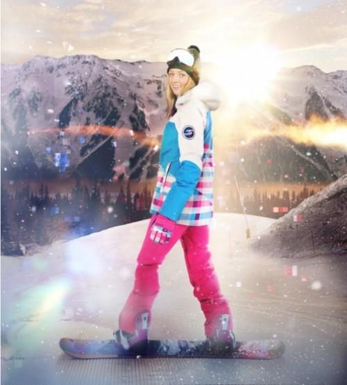 Russian snowboarder Alena Zavarzina