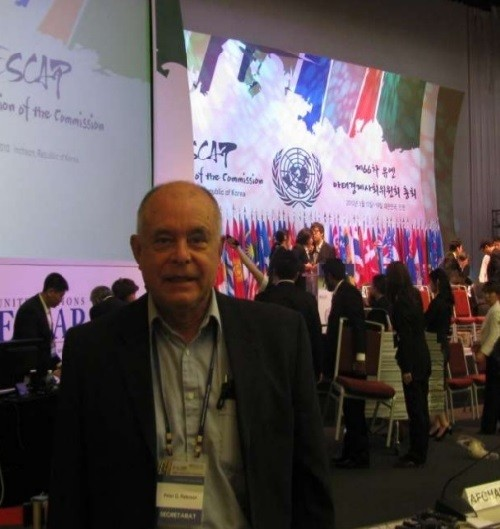 Russian translator Pyotr Patrushev at ESCAP, Korea. 2010