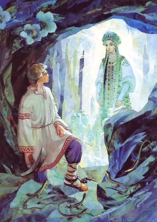 Stepan and Mistress of Copper Mountain.Stone Flower inspiration Vyacheslav Nazaruk
