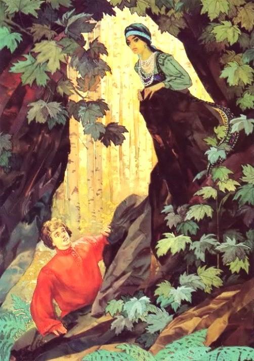 Stepan and Mistress of Copper Mountain. Artist Vyacheslav Nazaruk