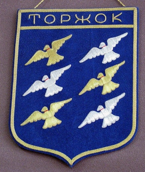 Coat-of-Arms Torzhok gold embroidery