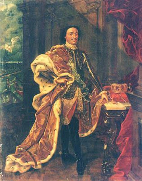 Peter the Great in paintings. Portrait of Peter I