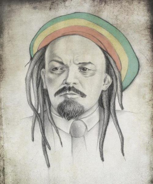 Vladimir Lenin. Political caricature by Viktoria Tsarkova