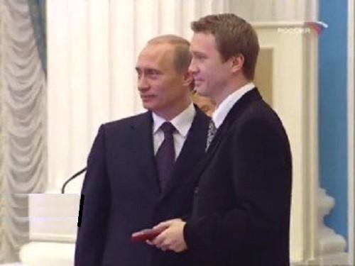 Vladimir Putin and Evgeny Mironov