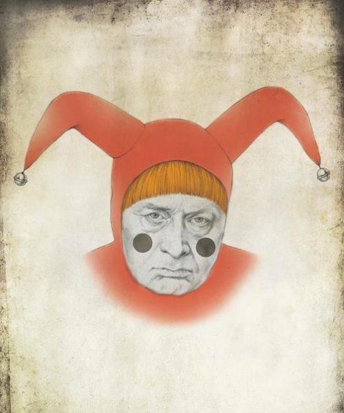 Vladimir Zhirinovsky. Political caricature by Viktoria Tsarkova