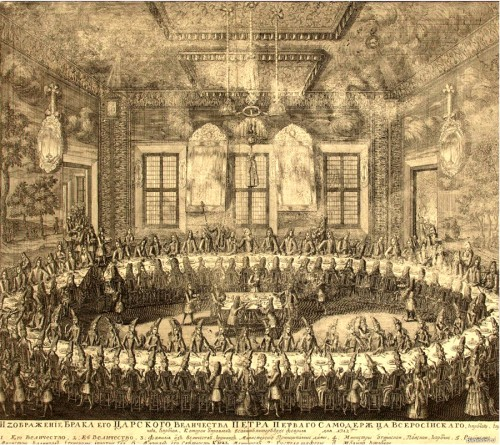 Wedding of Peter and Catherine. 1712 (the image can be enlarged)