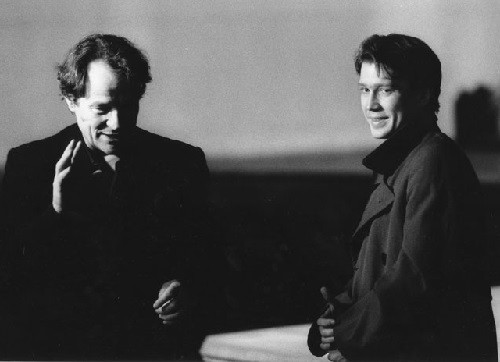 Yevgeny Mironov with Peter Stein, from Yevgeny Mironov's own collection, December 25, 1993