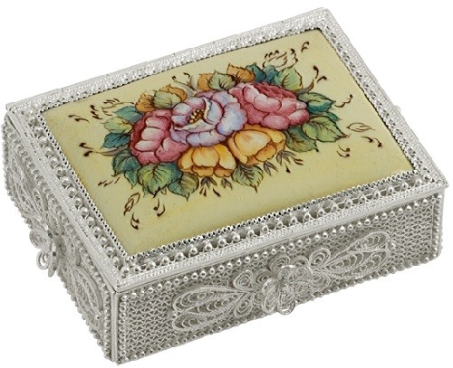 casket. Technology - scan-filigree, enamel