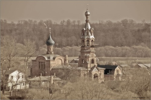 Old town of Borovsk, Kaluga region, Russia