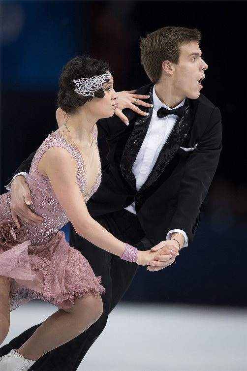 Russian ice dancers Elena Ilinykh and Nikita Katsalapov
