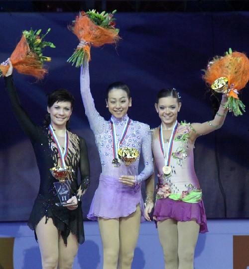 Alena Leonova, Mao Asada and Adelina Sotnikova, 2011