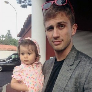 Smurfit with his daughter Angelina