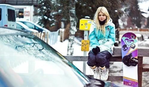 Russian snowboarder Alyona Alekhina