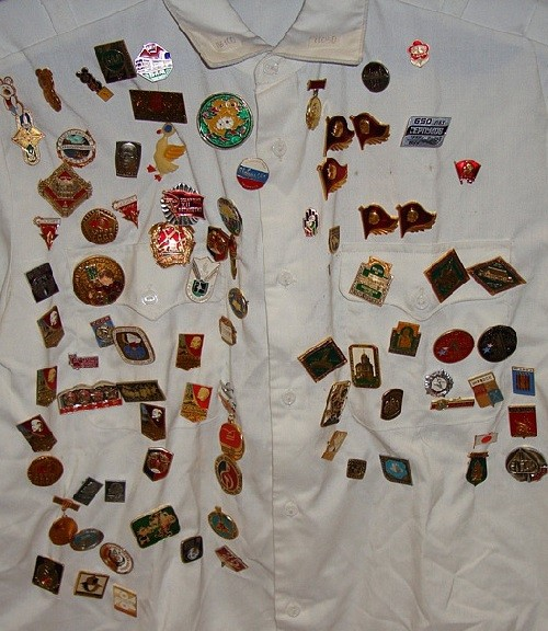Badges of different years and themes