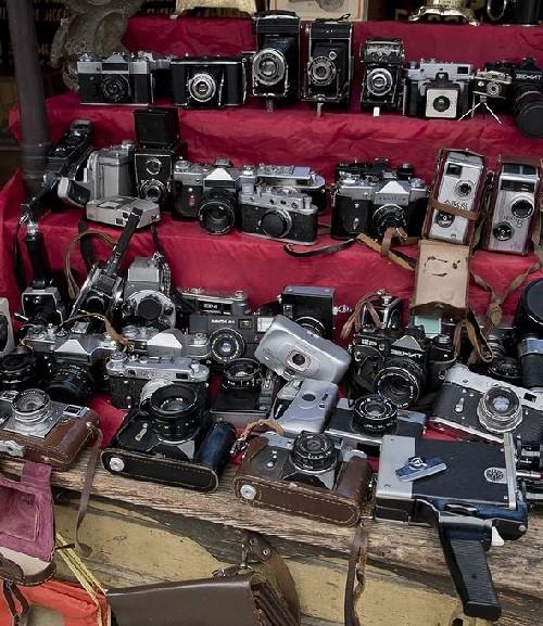 Cameras, Moscow flea markets