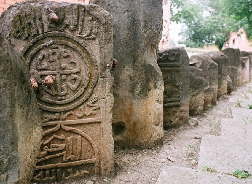 City of the Dead, Chechnya. Swastika ancient symbol
