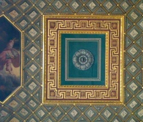Fragments of the ceiling in St. George (Large Throne) Hall of the Winter Palace