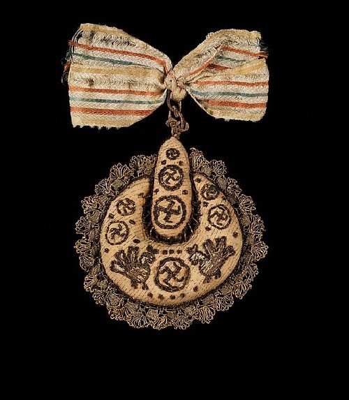 Hair accessory. 1830–80. Medium - silk, metal. From the collection of Natalia de Shabelsky (1841-1905). Brooklyn Museum Costume Collection at The Metropolitan Museum of Art