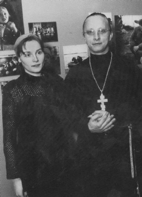 Ivan Okhlobystin and Oksana Okhlobystina