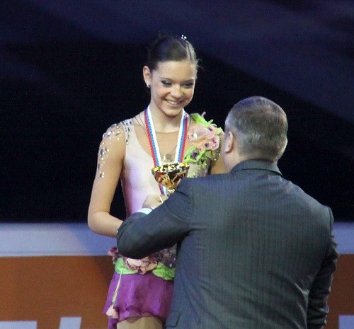 Ladies awarding (Rostelecom Cup 2011)