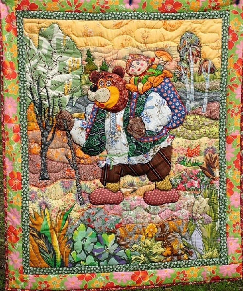 Patchwork 'Masha and the Bear'