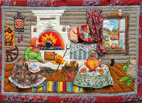 Patchwork 'Once upon a time there lived a grandfather and a grandmother'