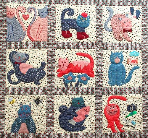 Patchwork 'from the life of cats and kittens'