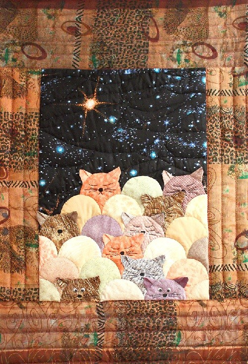 Patchwork 'moonlight cats'