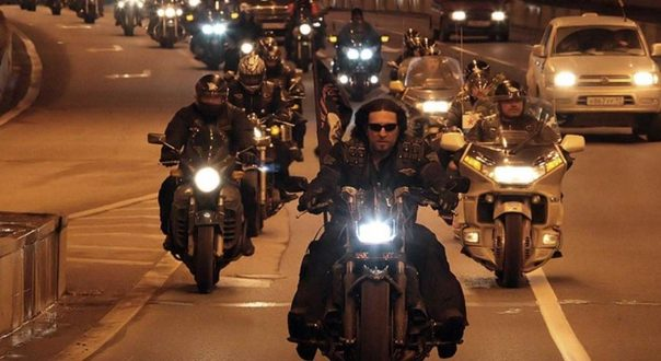 Russian bikers Night Wolves