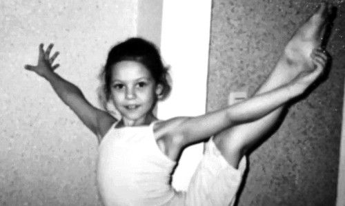 Russian ice dancer Elena Ilinykh in childhood