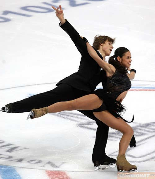 Russian ice dancers Ilinykh and Katsalapov
