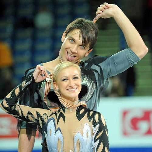 Russian Olympians skaters Tatiana Volosozhar and Maxim Trankov