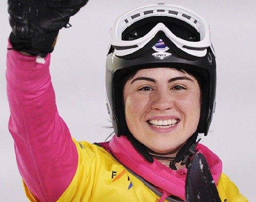 Russian professional snowboarder Yekaterina Tudegesheva