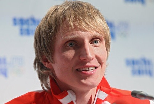 Russian speed skater Ivan Skobrev