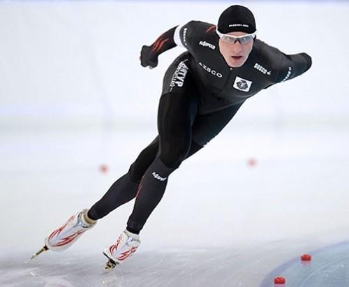Russian Olympians speed skater Ivan Skobrev