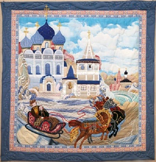 Russian Patchwork. Suzdal patchwork on fairy tales theme