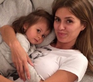 Bonya with her daughter Angelina