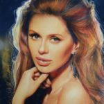 Viktoria Bonya. Colored Pencil drawing. Artist Marya Tyurpeko