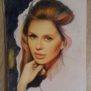 Colored Pencil drawing. Artist Marya Tyurpeko (work in progress)
