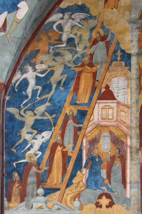 Vision of St. John Climacus. Frescoes of St. John the Baptist Church
