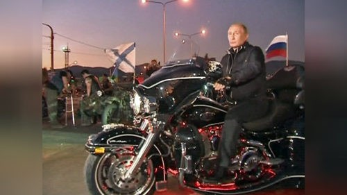Vladimir Putin, President of Russia, admitted by motor club 'Night Wolves'